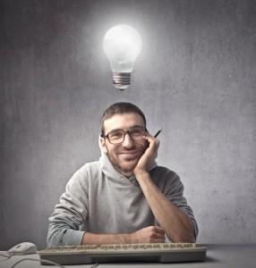 man with an idea