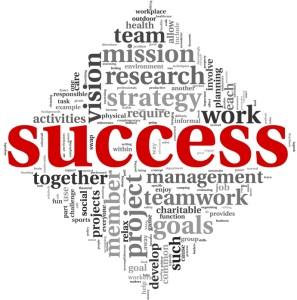Success concept in tag cloud